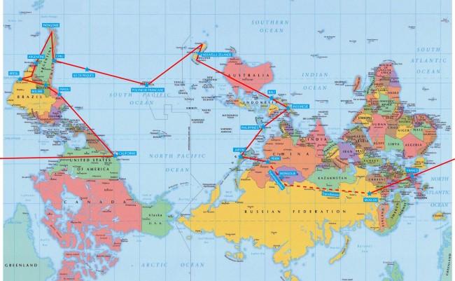 Carte Australie Inversee.Pourquoi Une Carte Du Monde A L Envers