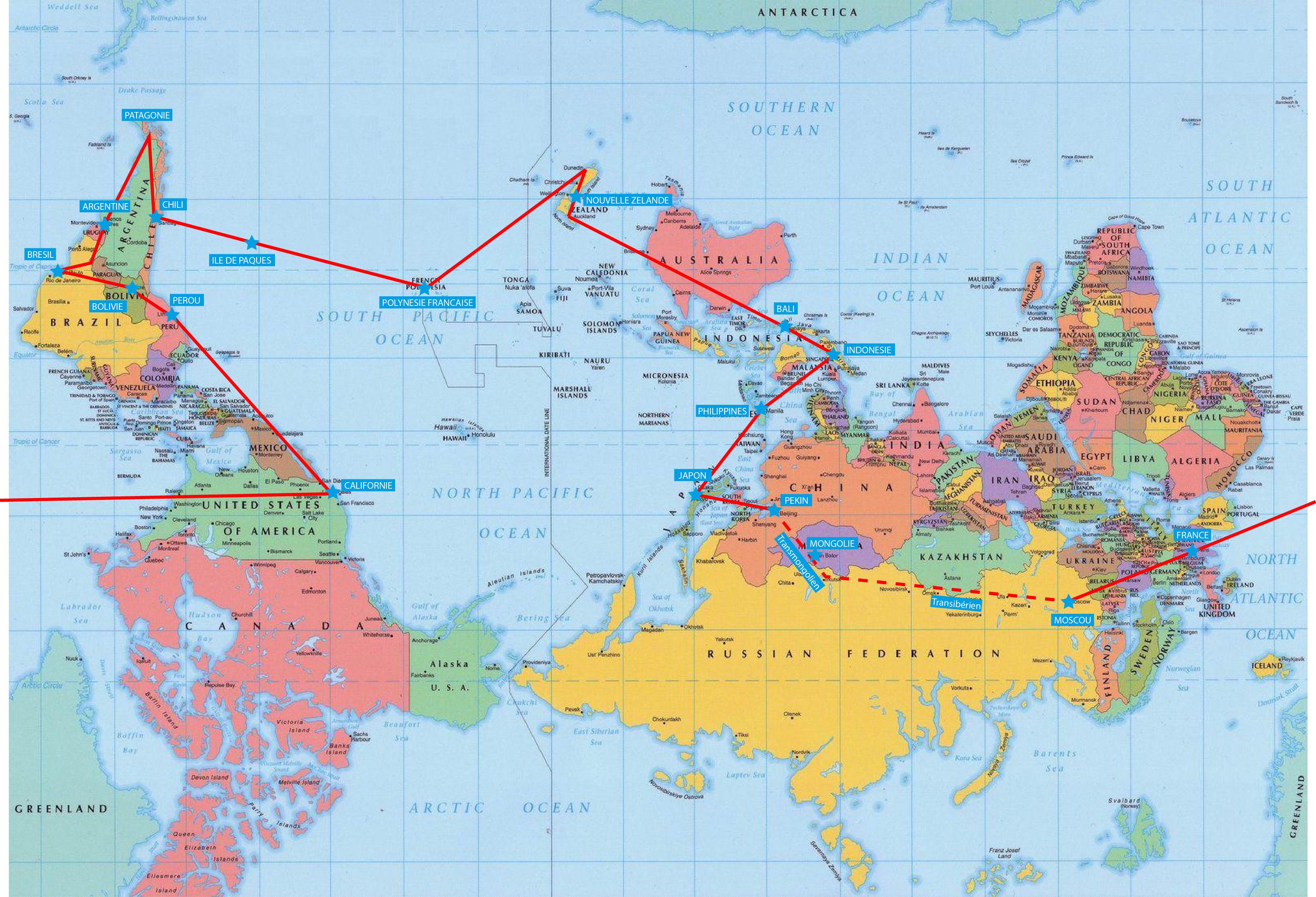 Pourquoi une carte du monde à l'envers ? »
