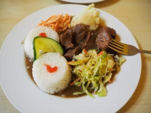 Plat typique mongol pour moins de 2,50 €