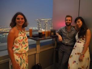 Ed et Kaili à Singapour