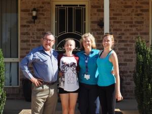 Rowan, Eliza, Sue, Christen, à Forbes - Australie