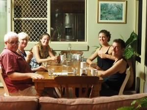 Len, Julia, Jenny, Monica à Minyama - Australie